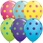 Q10240-1 assortment polka dot latex 11