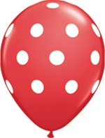 Q37208-2T polka dot 11 inch latex