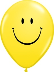Q85986-2T smiley yellow 11 inch latex