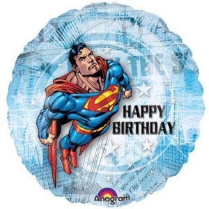 A12969 - 18 in superman HBD round