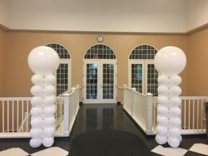 balloon column - white (stacked)